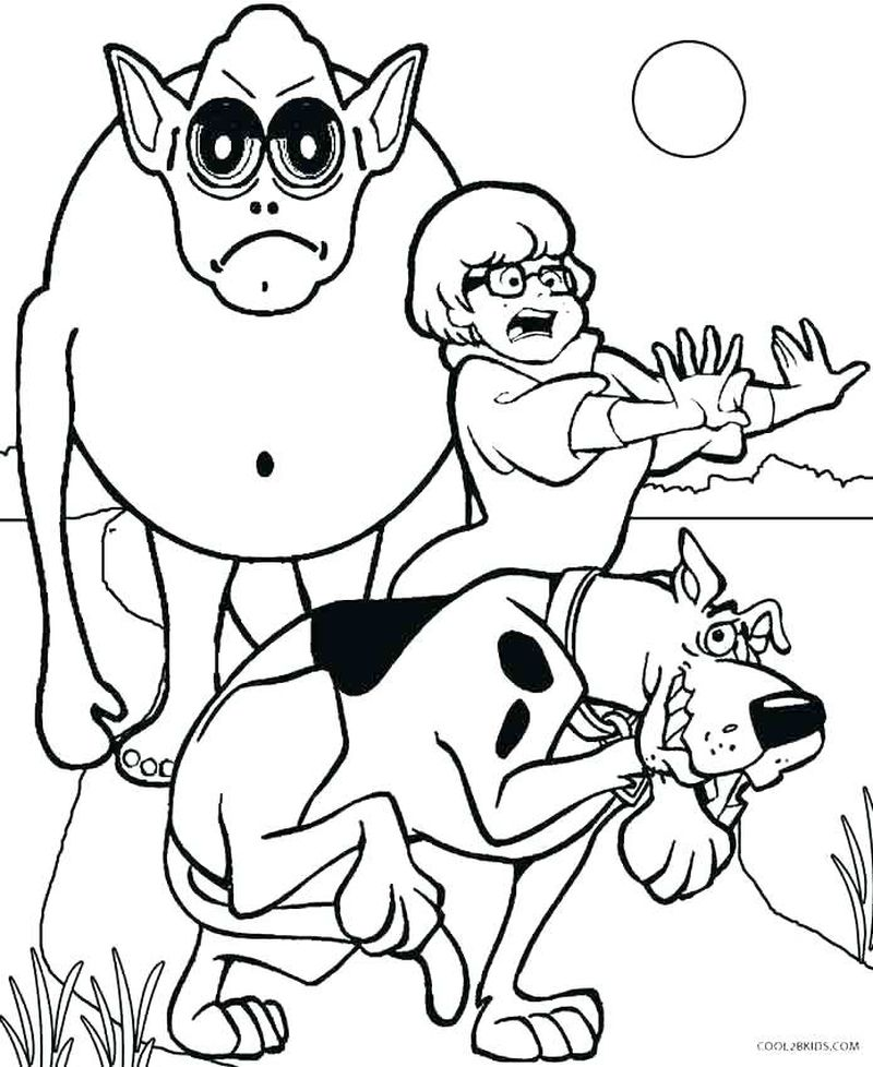 baby scooby doo coloring pages