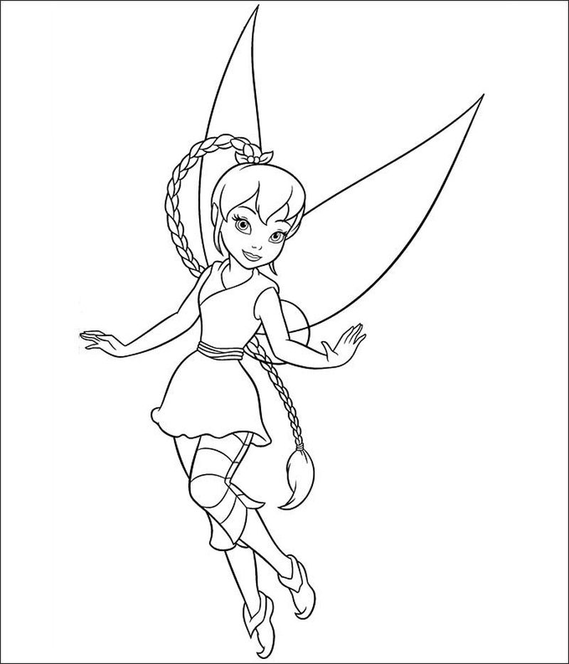 baby tinkerbell coloring pages