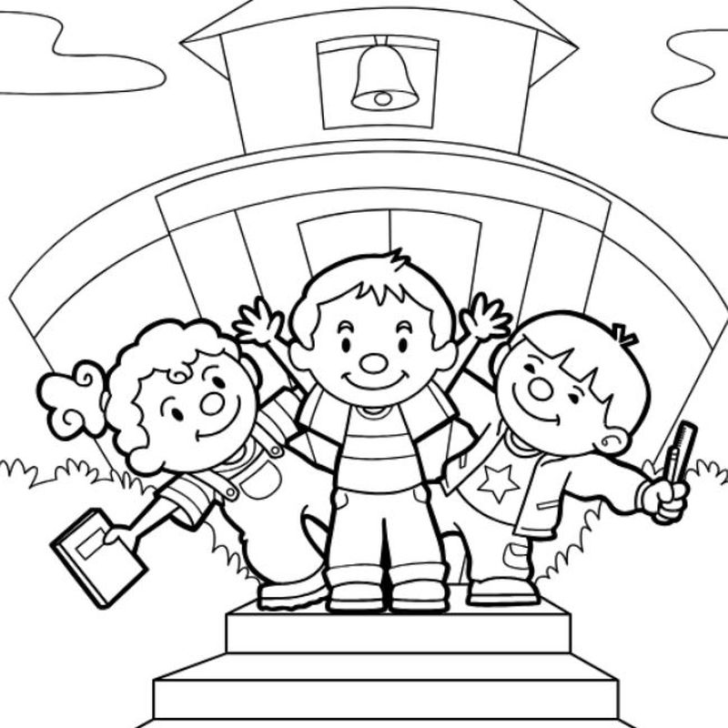 back to school coloring page online image