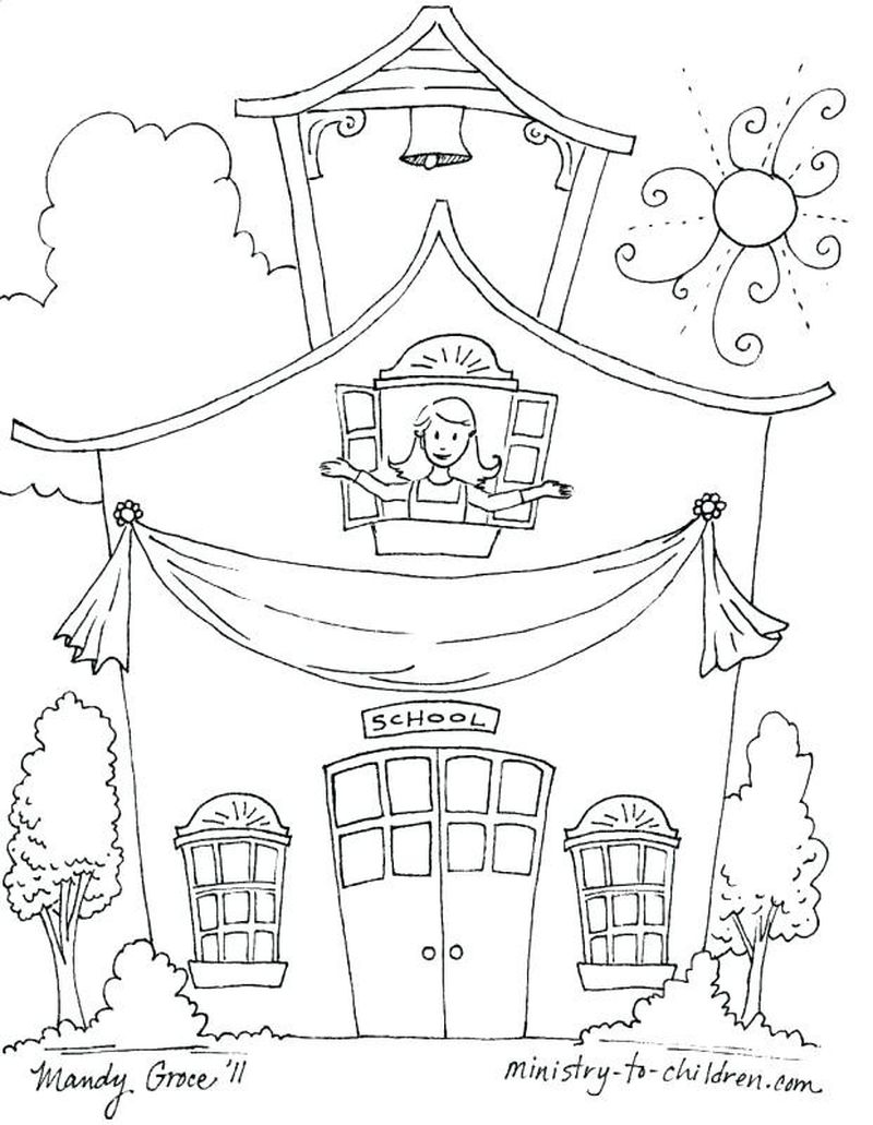 back to school coloring page online