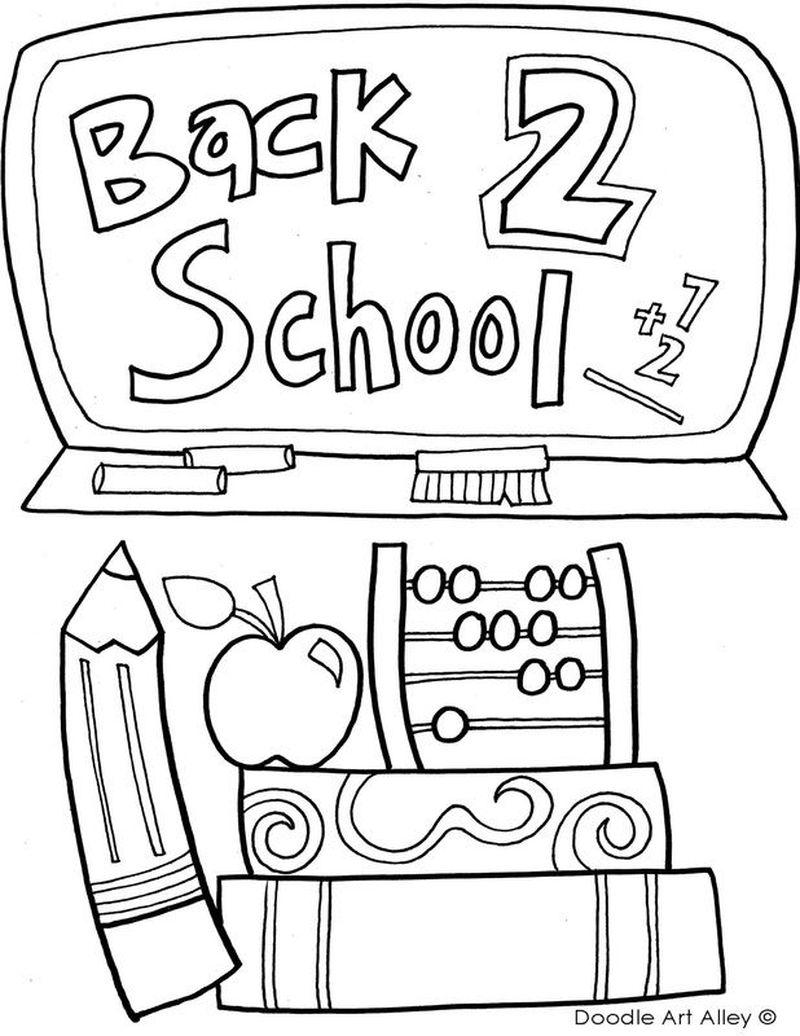 back to school coloring page pdf
