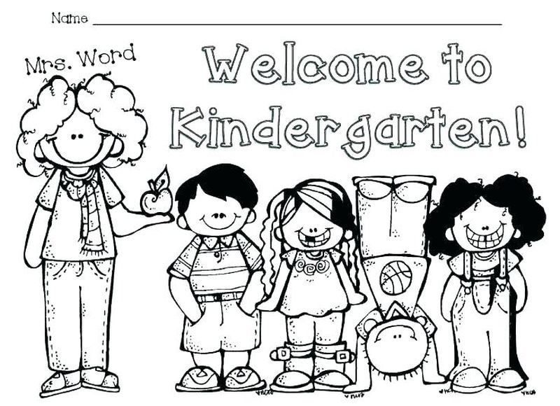 back to school coloring page sheet