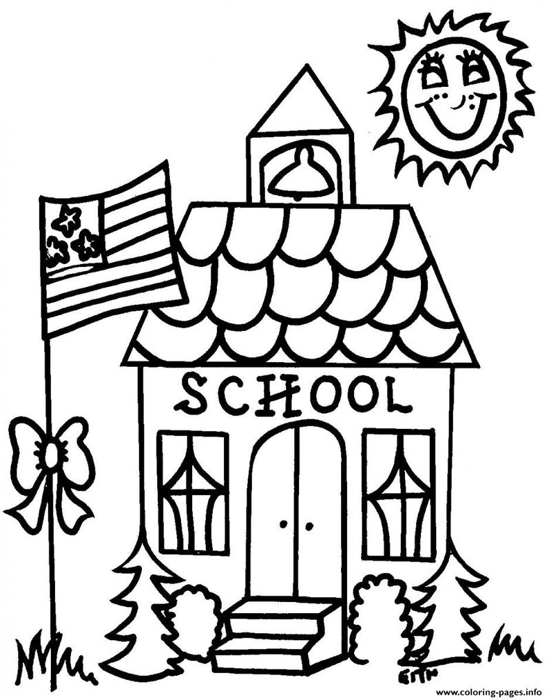 back to school coloring page to pict