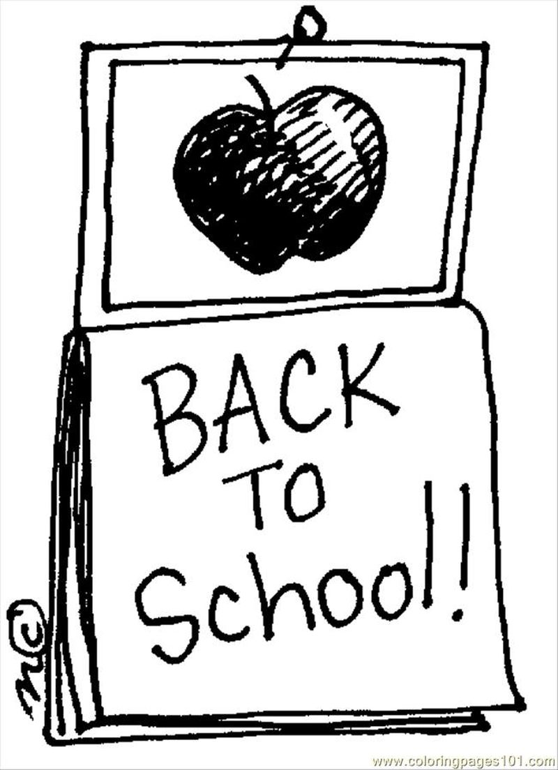 back to school coloring pages free 1