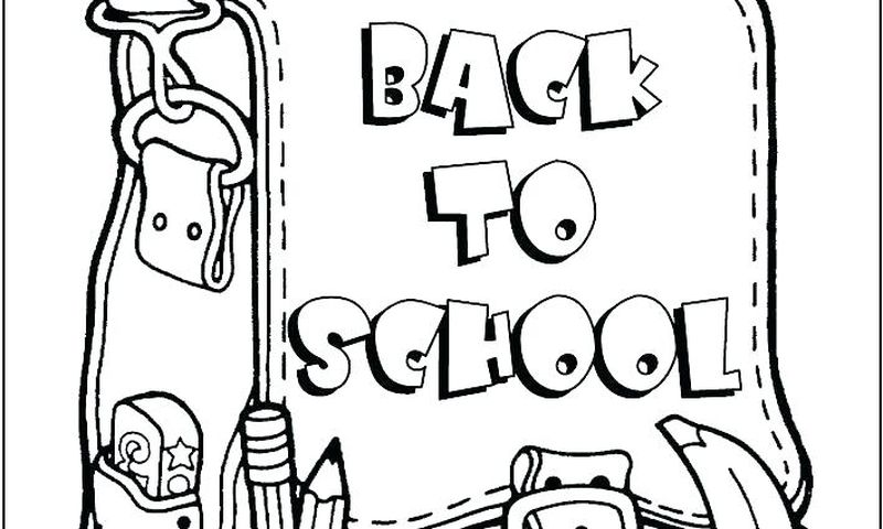 back to school coloring pages online