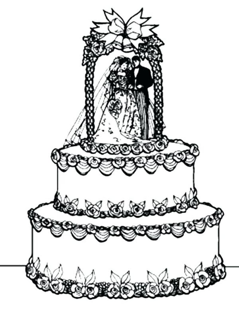 barbie cake coloring pages