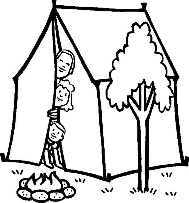 barbie camping coloring pages