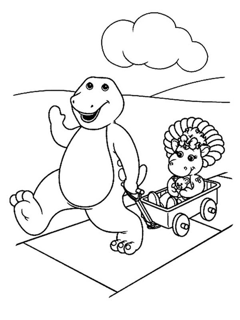 barney and friends coloring pages to print
