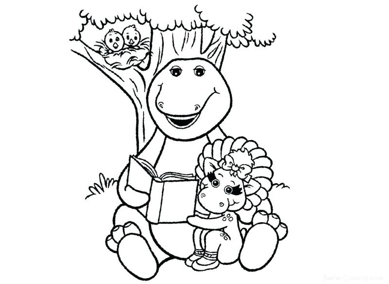 barney and friends printable coloring pages