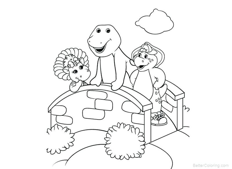 barney coloring page