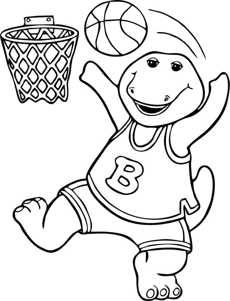 barney coloring pages for toddlers