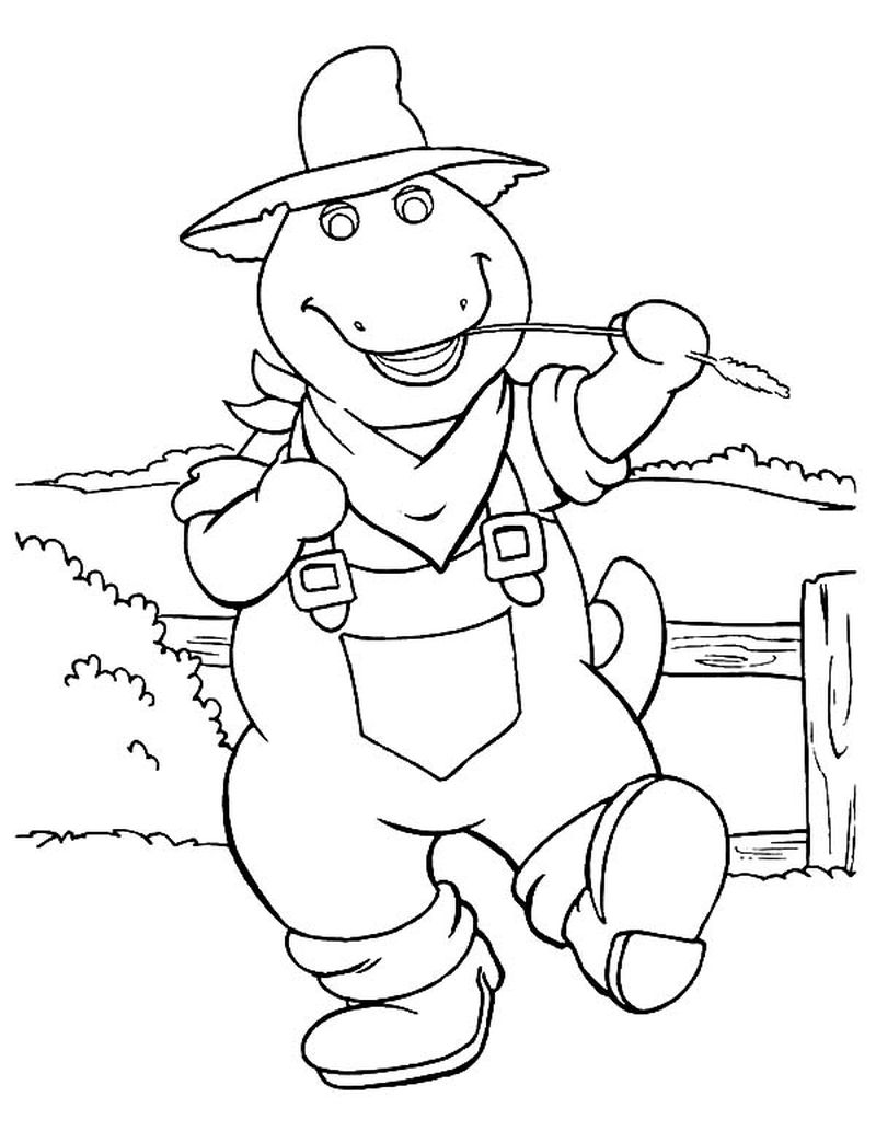 barney coloring pages free to print
