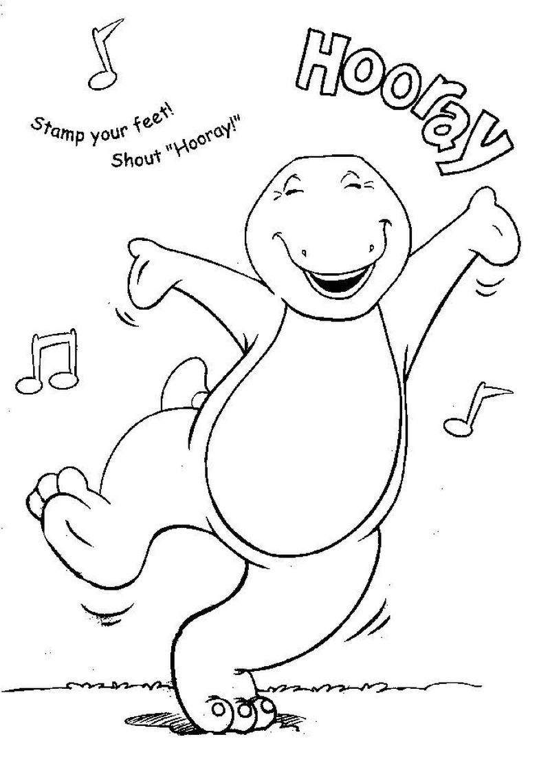 barney coloring pages free