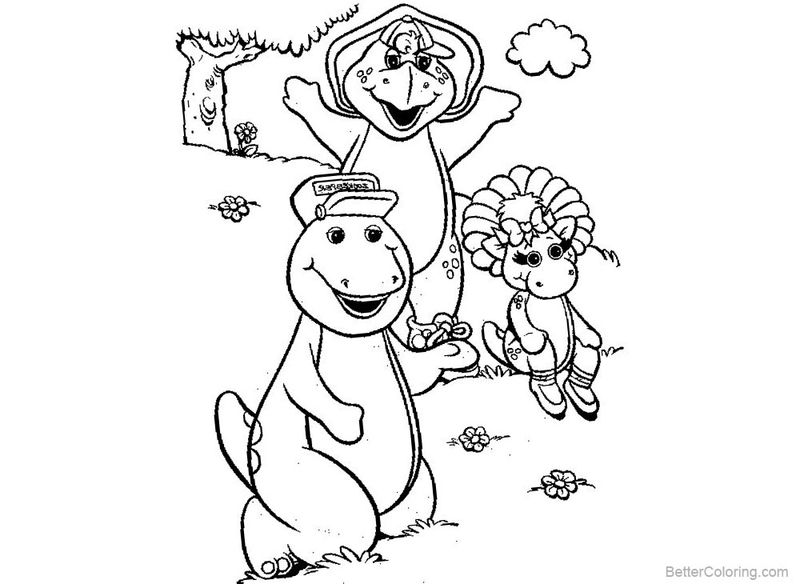 barney coloring pages to print free