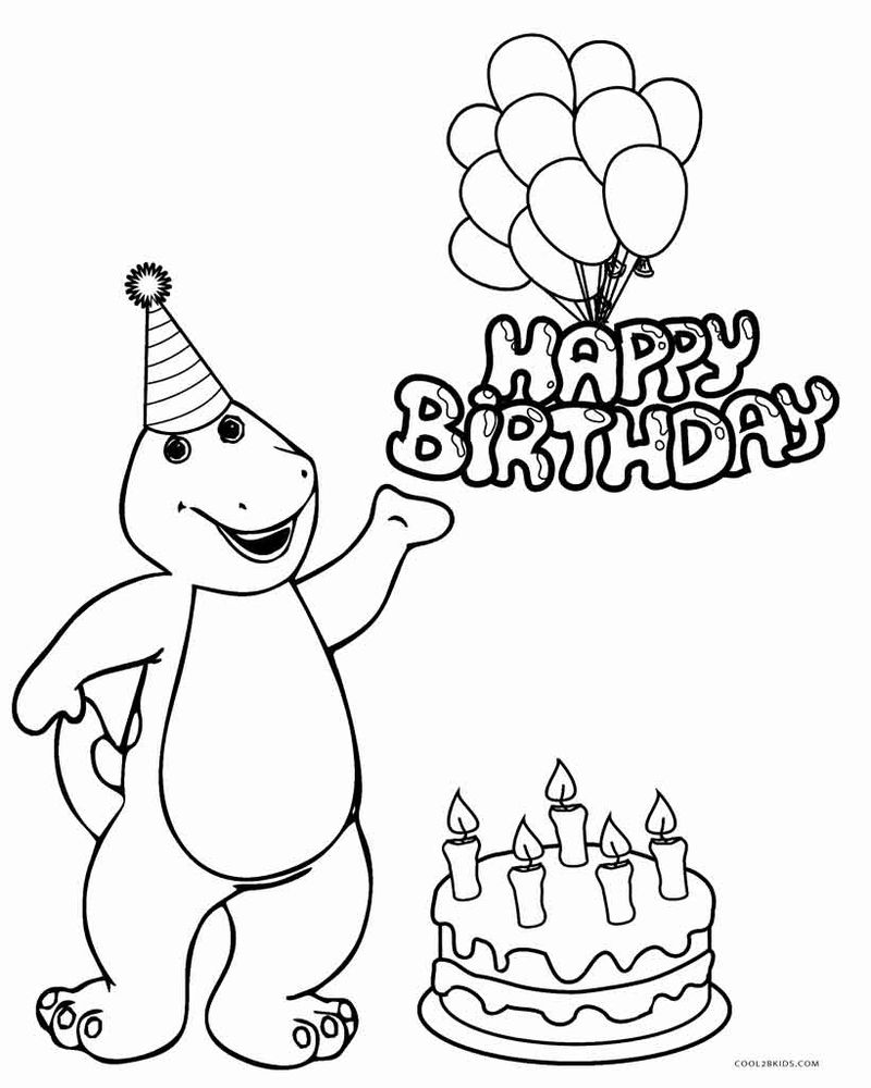 barney coloring pages youtube