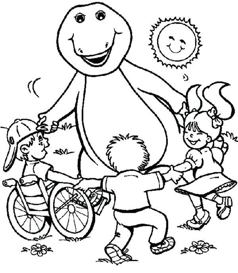 barney dinosaur coloring pages