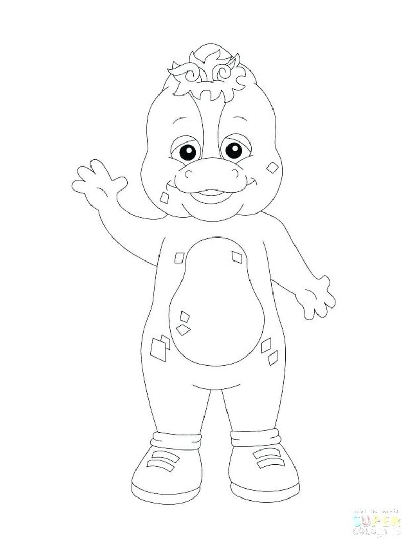 barney halloween coloring pages