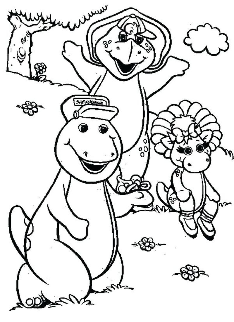 barney printables coloring pages