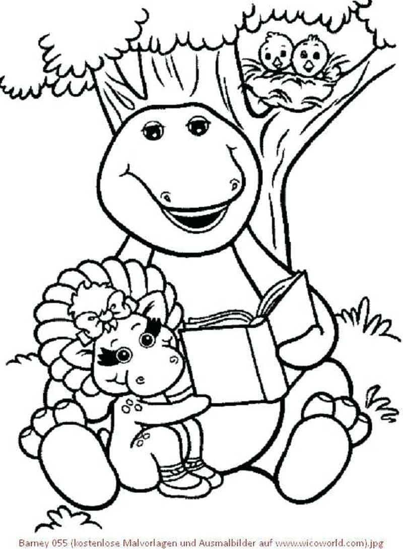 barney riff coloring pages