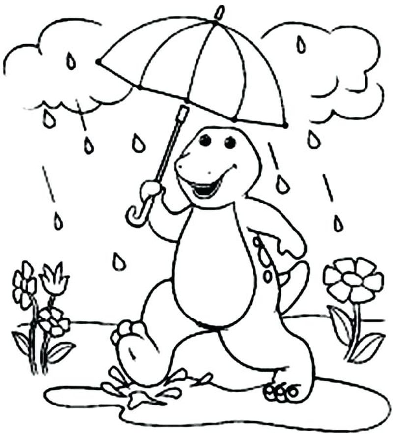 barney rubble coloring pages
