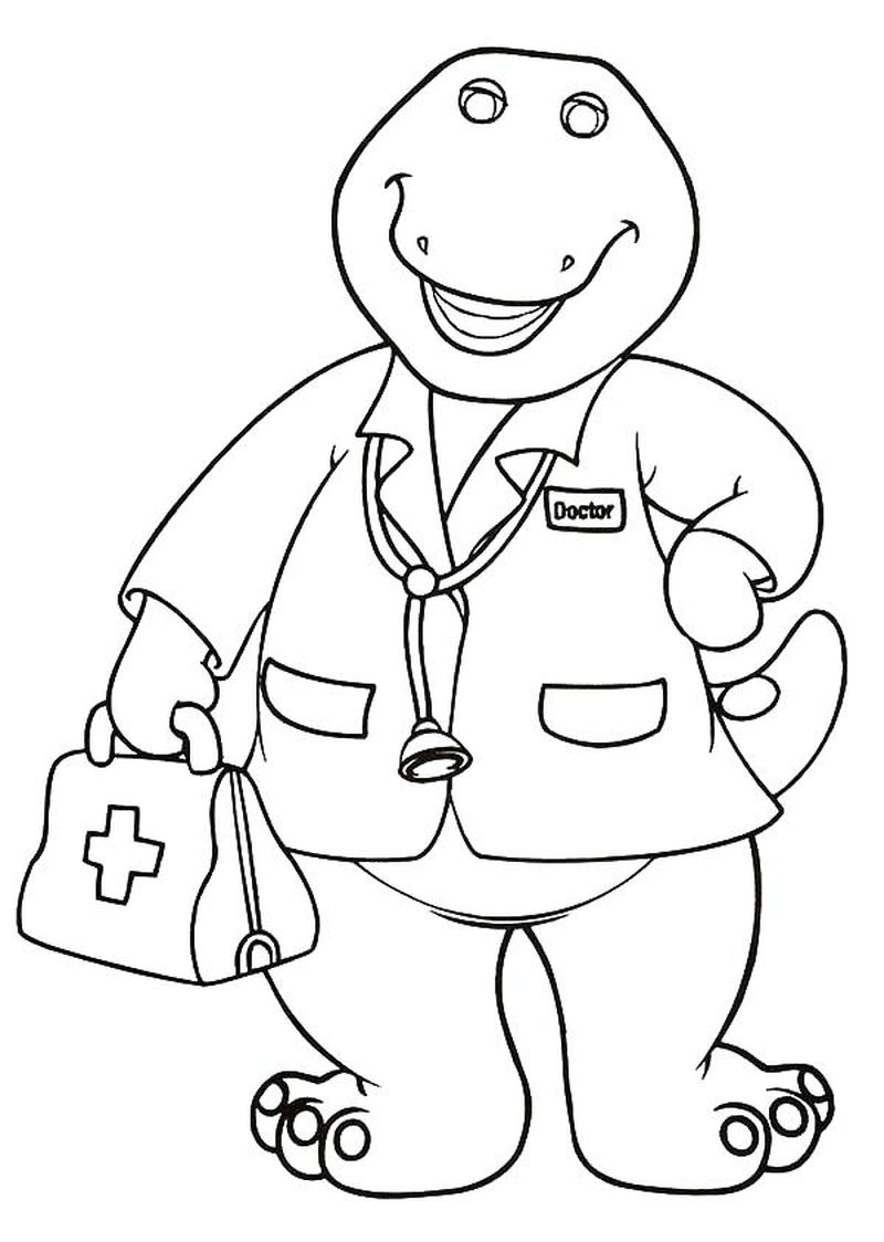 barney the dinosaur coloring page