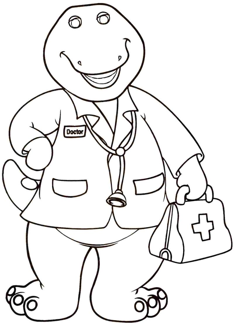barney the purple dinosaur coloring pages