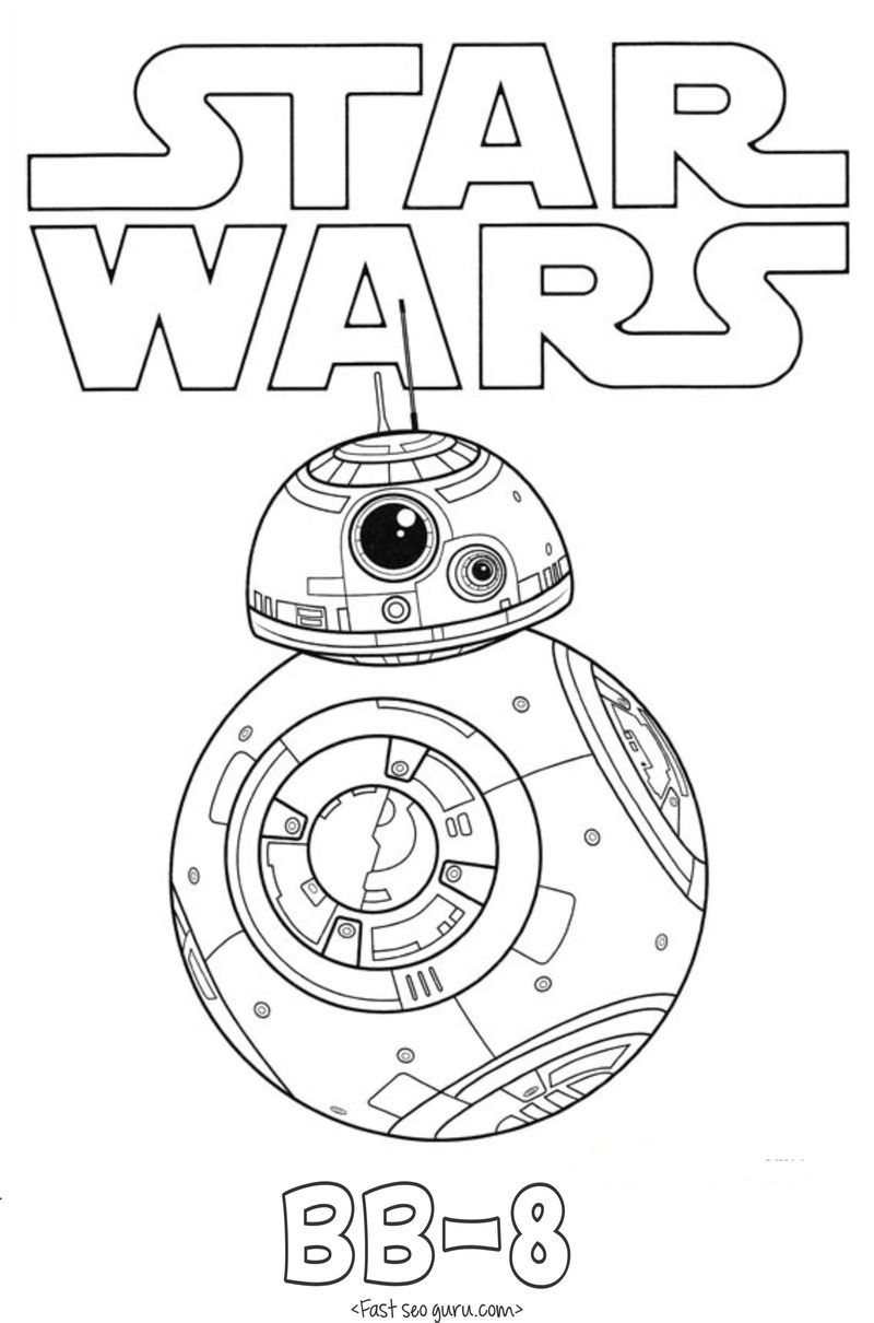 bb8 colouring pages free