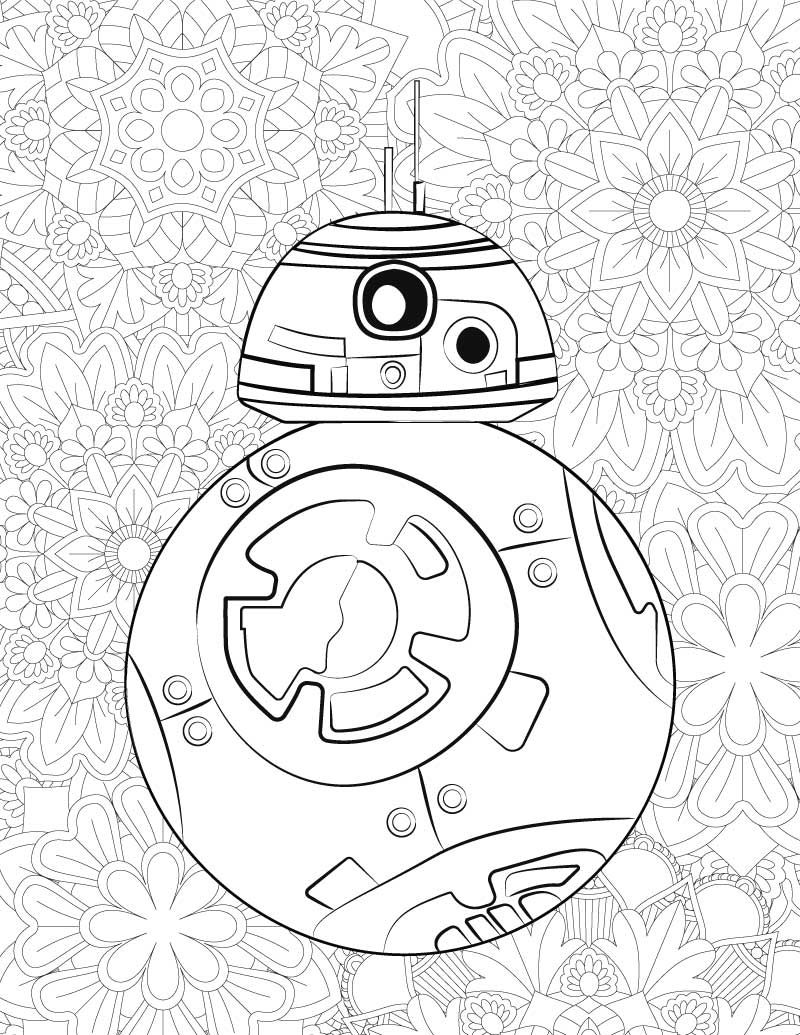 bb8 robot coloring pages free