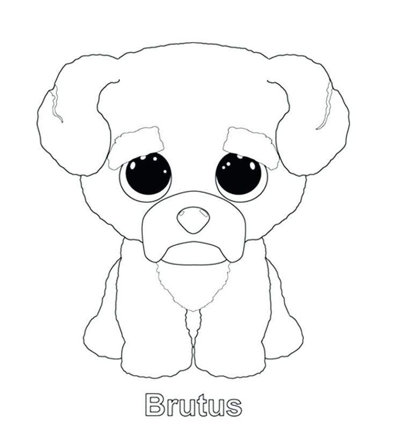 beanie boo bat coloring page
