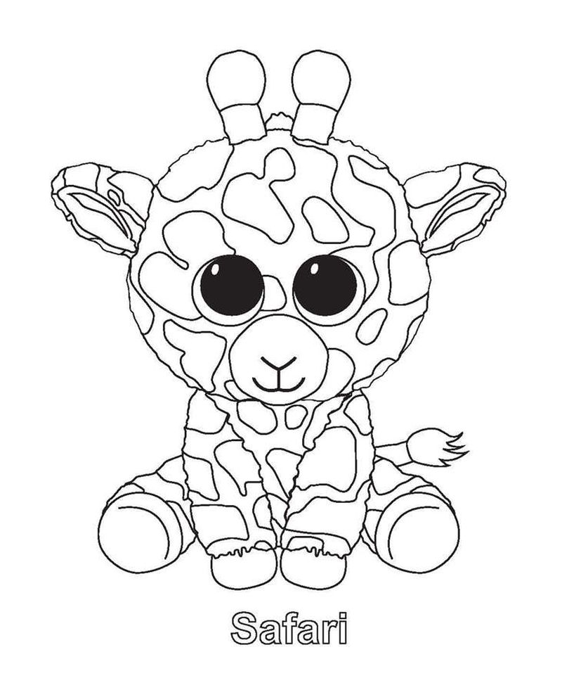 beanie boo birthday coloring pages