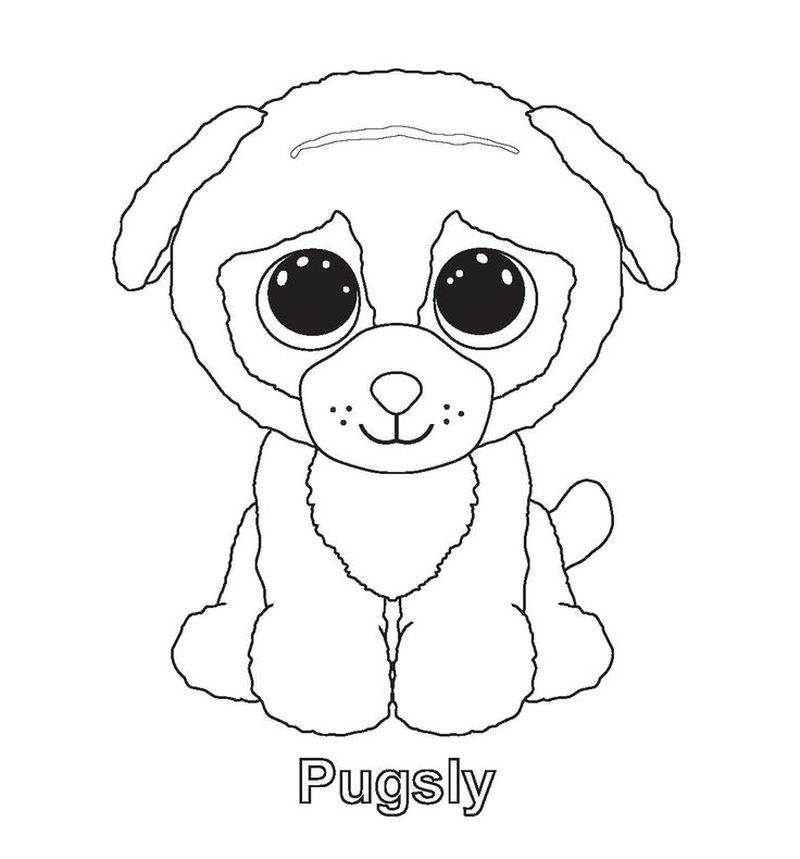 beanie boo bunny coloring page
