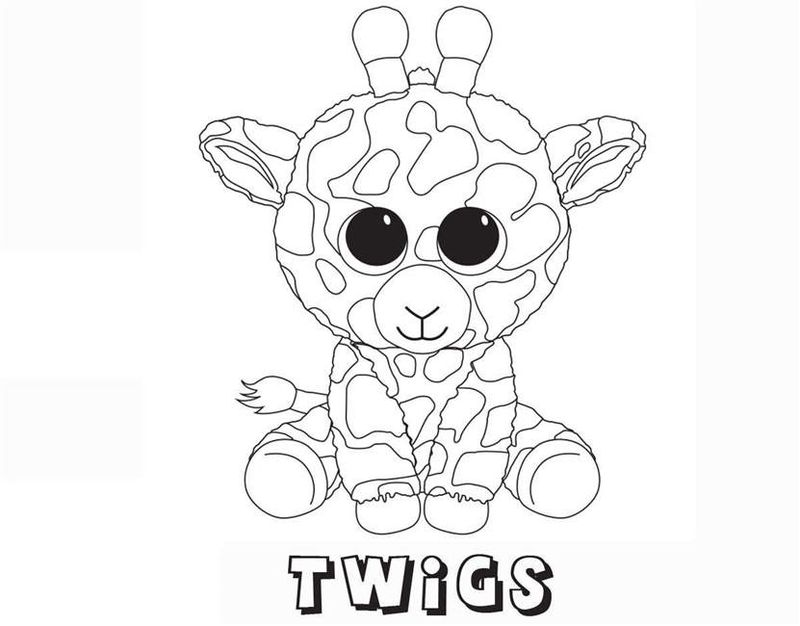 beanie boo cat coloring pages