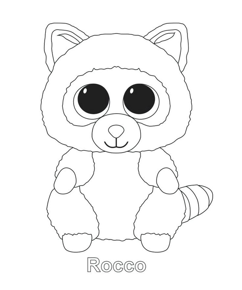 beanie boo coloring pages bunny