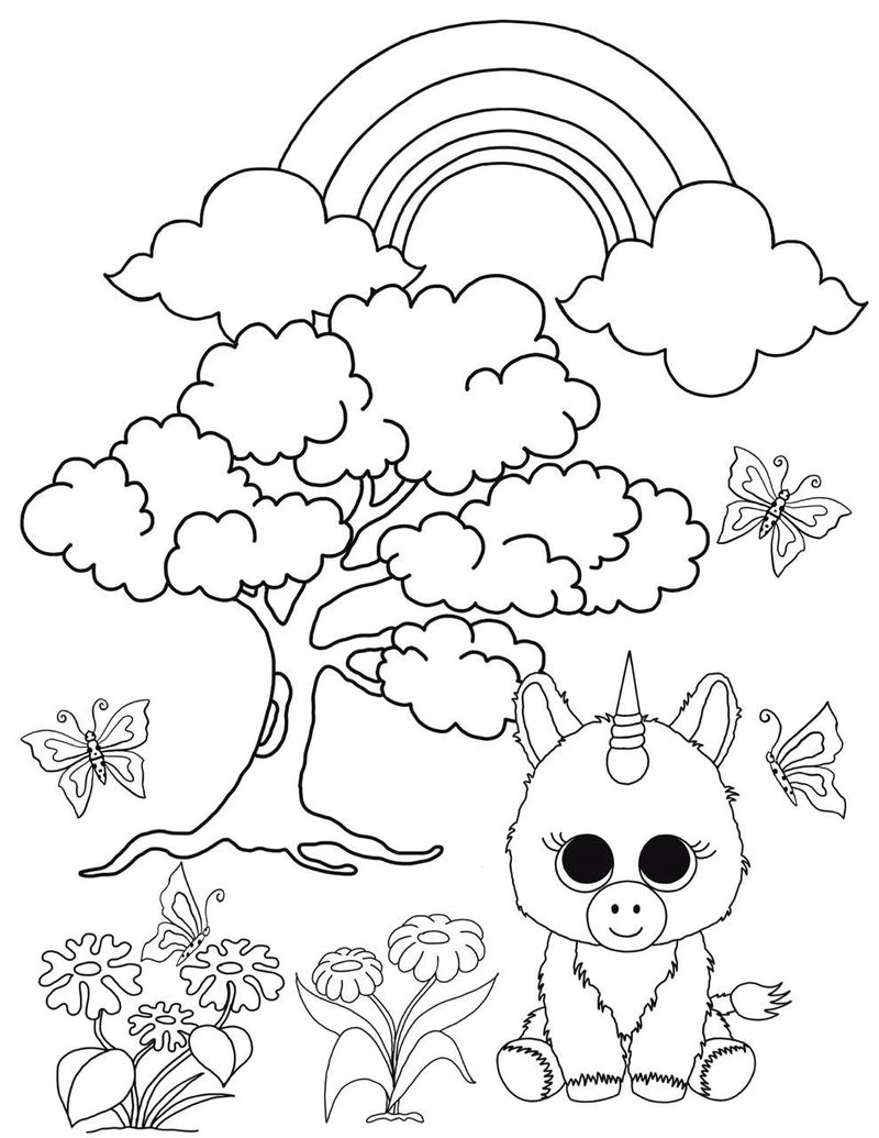 beanie boo coloring pages cancun