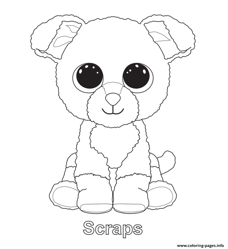 beanie boo coloring pages coconut