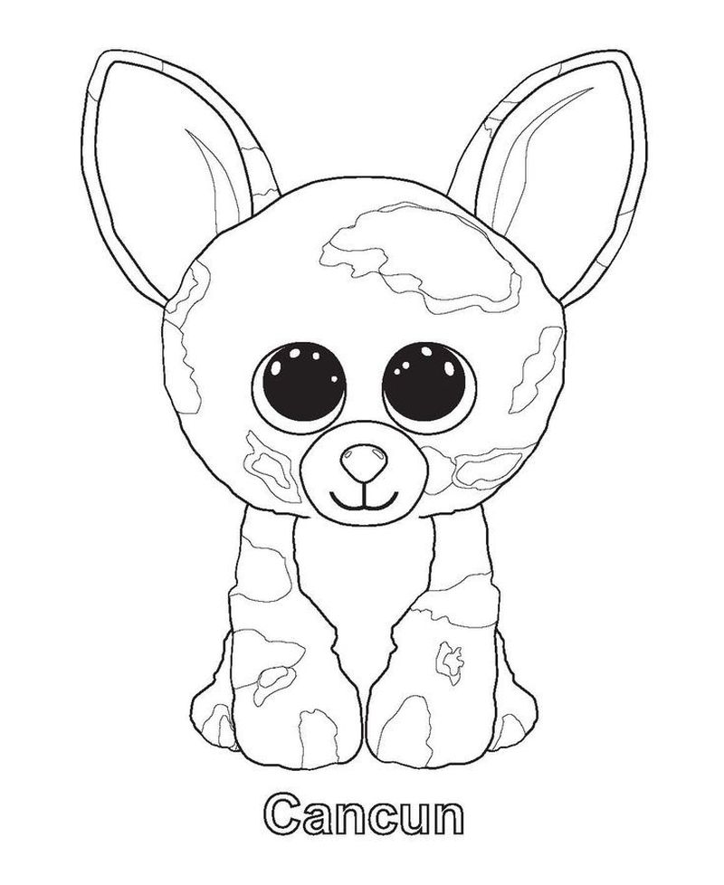 beanie boo coloring pages printable