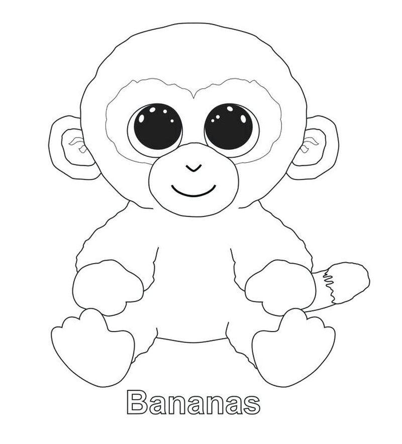 beanie boo coloring pages to print