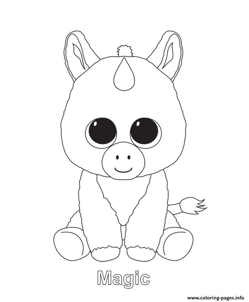beanie boo colouring pages to print