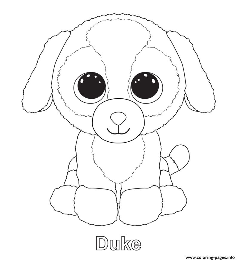 beanie boo colouring pages