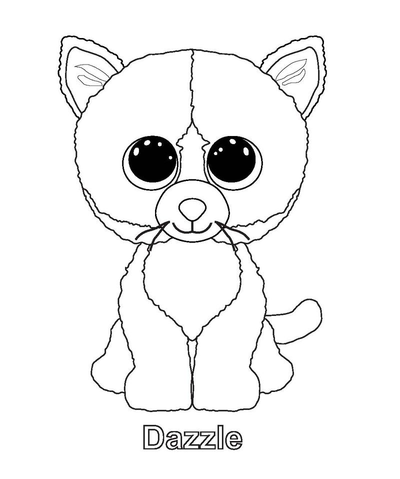 beanie boo dotty coloring page