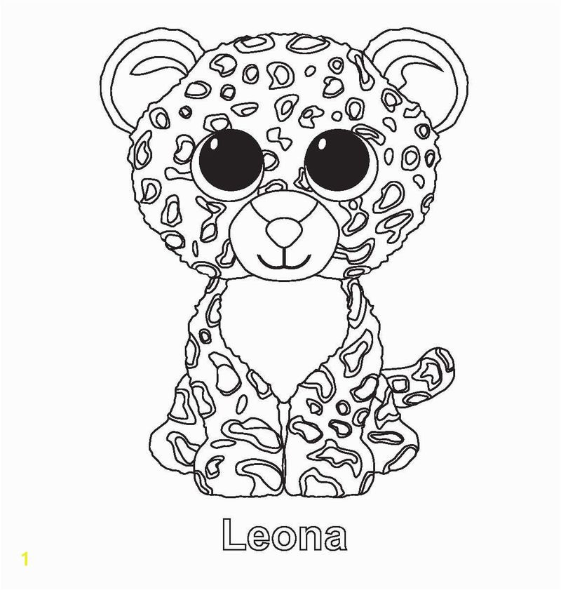 beanie boo leopard coloring pages