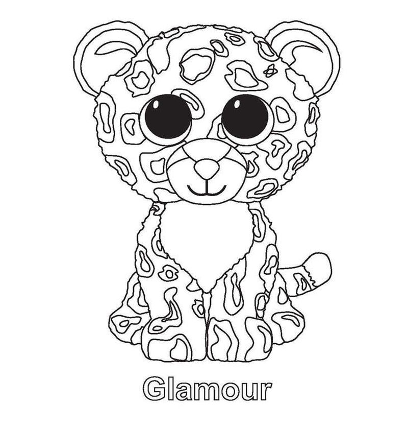 beanie boo magic coloring pages