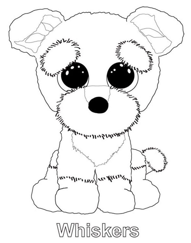 beanie boo penguin coloring pages