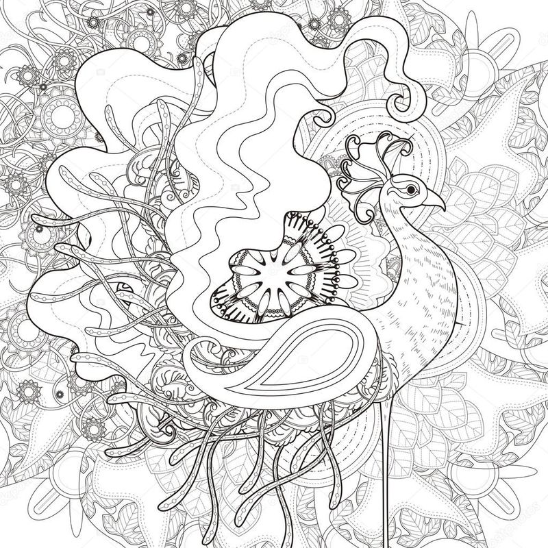 beautiful peacock coloring pages