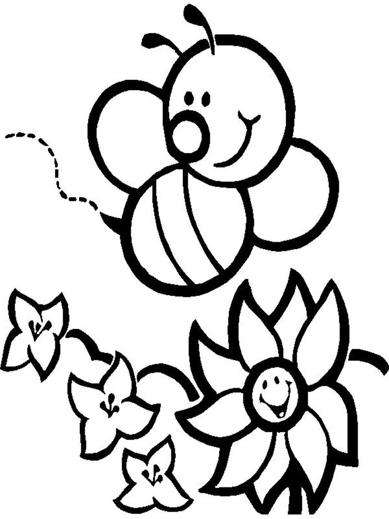 bee coloring pages for adults