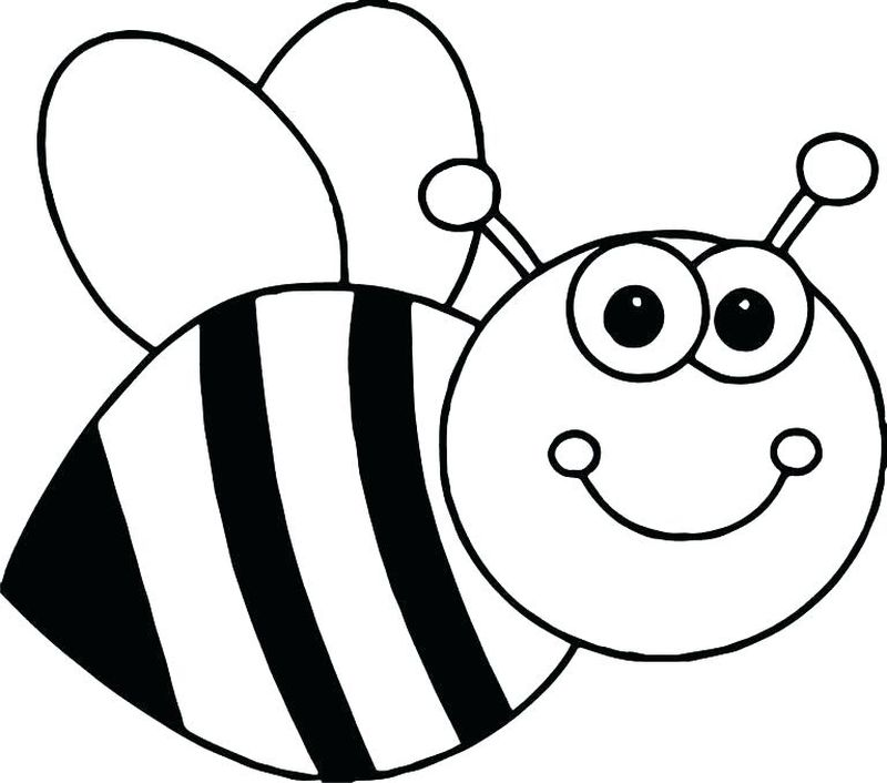 bee coloring pages to print