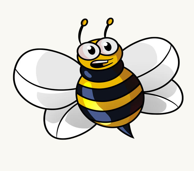 bee coloring