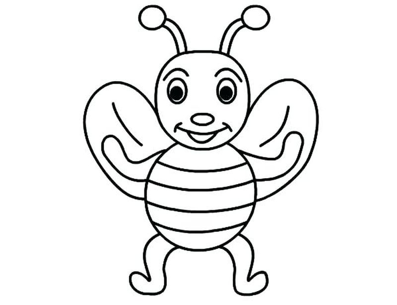 bee colouring pages free printable