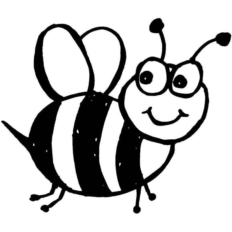 bee colouring pages free