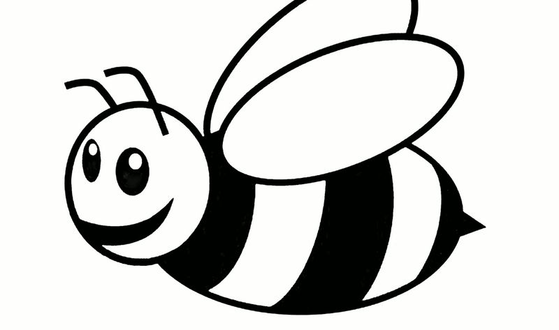 bee images coloring pages